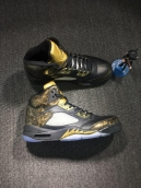 Super Perfect Air Jordan 5 Black Gold