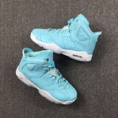 Perfect Air Jordan 6 Wome Blue White