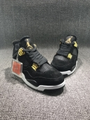 Perfect Air Jordan 4 Black Gold
