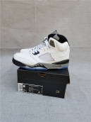 AAA Air Jordan 5 White Grey