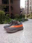 Adidas Yeezy 350v2 Kids Boost Grey Orange