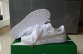 Puma Suede Basket Heart Women Leather White