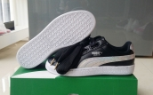 Puma Suede Basket Heart Leather Women Black