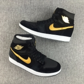 Perfect Women Air Jordan 1 Black Velvet