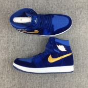 Perfect Women Air Jordan 1 Blue Velvet