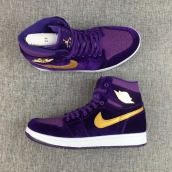 Perfect Women Air Jordan 1 Purple Velvet