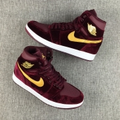 Perfect Women Air Jordan 1 Red Velvet