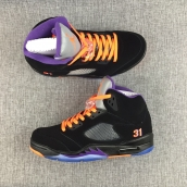 Perfect Air Jordan 5 Black Orange Purple