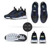 Nike Air Huarache 5 Navy Blue Black