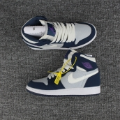 Air Jordan 1 Perfect Women Navy Blue Purple