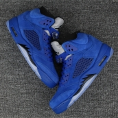 Super Perfect Jordan 5 Blue Raging Bulls