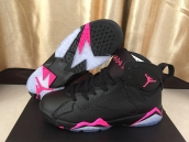 AAA Air Jordan 7 Women Black Pink