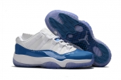 AAA Air Jordan 11 Low White Blue