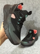 Nike Air Huarache 4 All Black Pink Glow In Dark