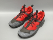 Nike Air Huarache 4 All Black Red Glow In Dark