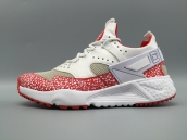 Nike Air Huarache 4 All White Red Grey Glow In Dark