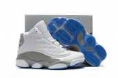 Air Jordan 13 Kid White Blue Grey