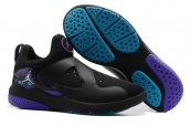 Air Jordan 8 Training Shoes Black Purple