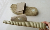 Women Adidas Yeezy Slippers Gold