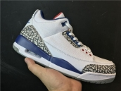 AAA Jordan 3 White Blue Red