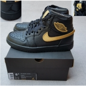 AAA Air Jordan 1 Black Gold