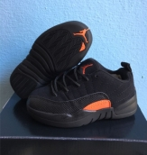 Air Jordan 12 Kid Low Black Orange
