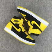 AAA Air Jordan 1 Black Yellow