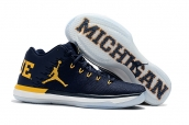 Air Jordan XXX1 Low Navy Blue Yellow