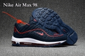 Nike Air Max 98 Red Navy Blue