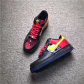 Women Air Force 1 CMFT Signature QS Black Red