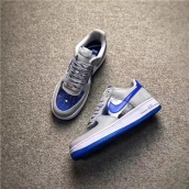 Women Air Force 1 CMFT Signature QS Blue Grey