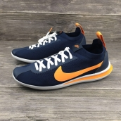 Women Nike Cortez Flyknit Navy Blue Yellow
