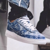 Louis vuitton x Supreme x Nike Air Force 1 DenimLV