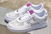 Women Nike Air Force 1 White SunFlower