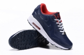 Women Nike Air Max 90 Navy Blue Red