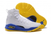 Under Armour Curry 4 White Blue Yellow