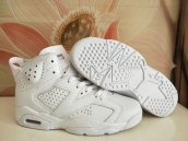 AAA Women Air Jordan 6 White