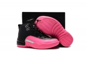 Air Jordan 12 Kids Pink Black