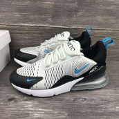 Women Air Max 270 Black White Blue