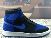 AAA Air Jordan 1 Flyknit Black Blue