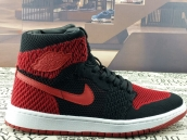 AAA Air Jordan 1 Flyknit Black Red