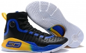 Under Armour Curry 4 Black Blue Yellow