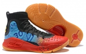 Under Armour Curry 4 Black Red Blue