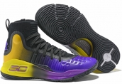Under Armour Curry 4 Black Yellow Purple