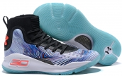 Under Armour Curry 4 Blue Black White