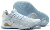 Women Under Armour Curry 4 Low White