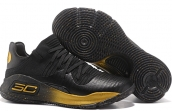 Women Under Armour Curry 4 Low Black Gold