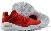 Women Under Armour Curry 4 Low Red