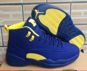 AAA Air Jordan 12 Blue Yellow