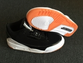Women AAA Air Jordan 3 Black White Orange